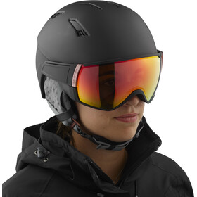 Salomon Mirage CA Photo Skihelm Dames, black rose/red